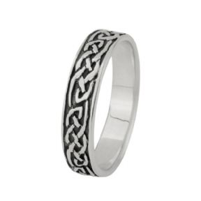 Celtic Knotwork Silver Band Ring 0766